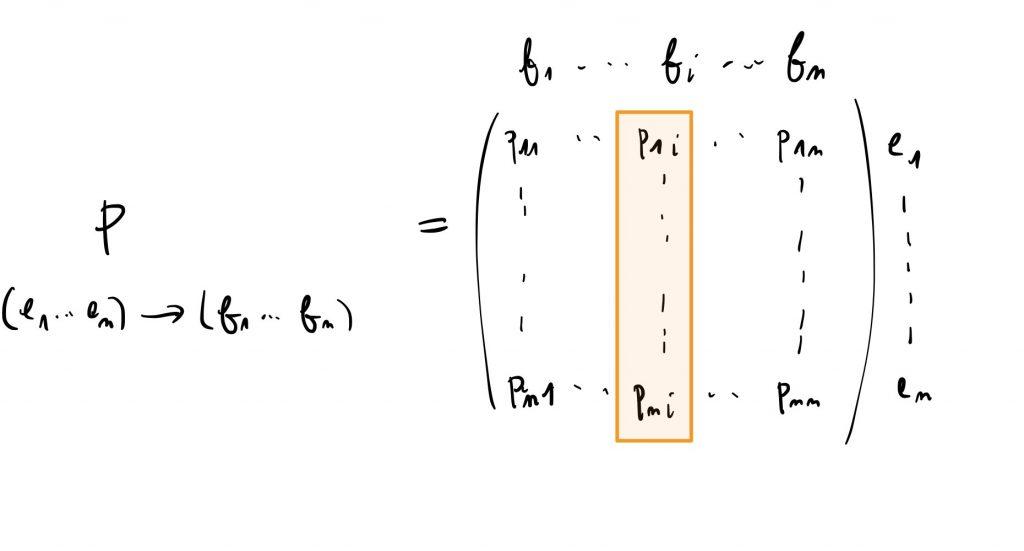 Une matrice de passage