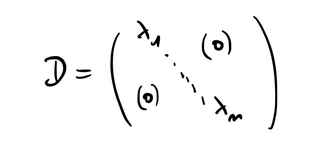 Une matrice diagonale